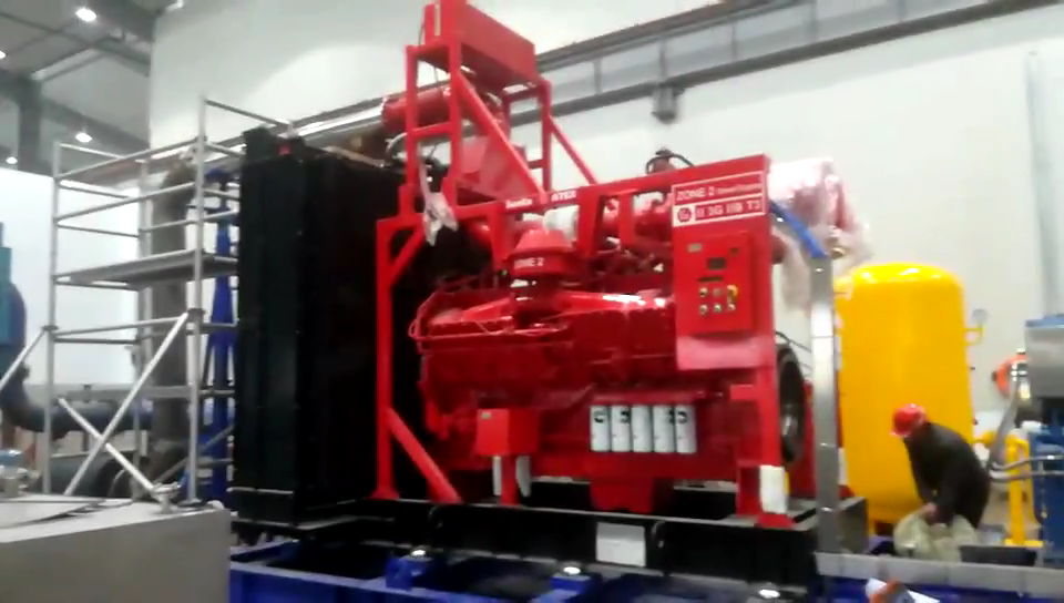KTA50 1200kw Explosion Proof Diesel Engine For Boosting Oil Pipeline In Africa
