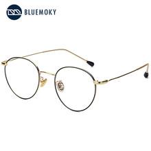 BLUEMOKY маленькие ретро круглые очки, оправа для женщин, дизайнерская оптическая оправа, близорукость, прозрачные очки, новые оправы для очков ...(Китай)