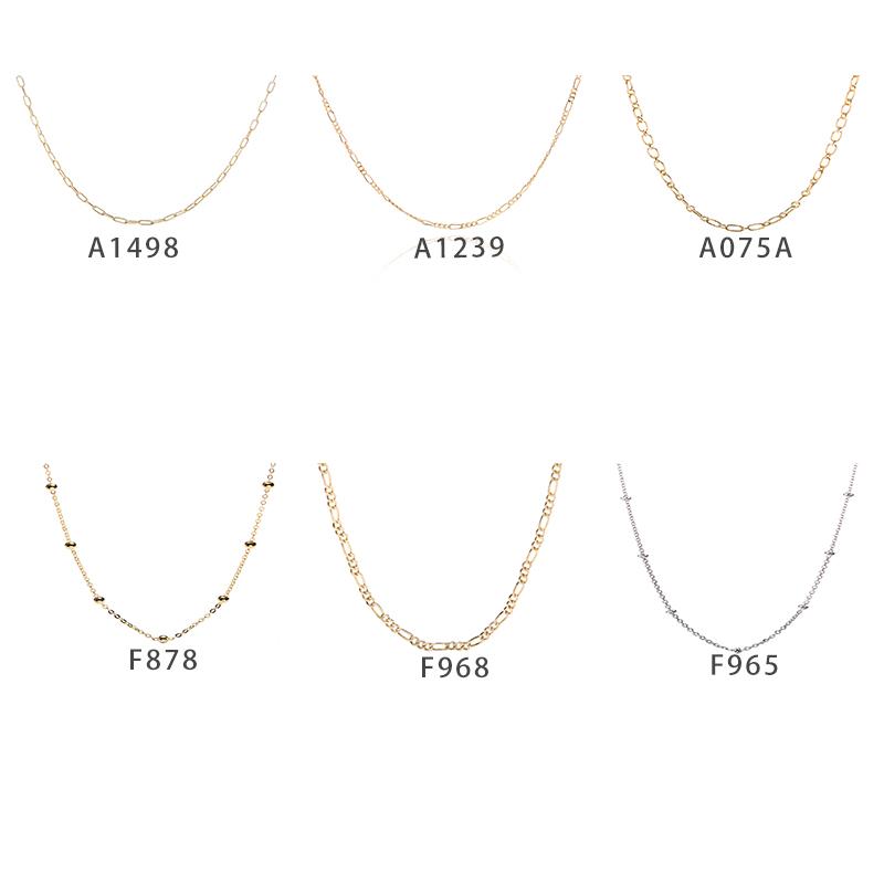 Заводская цена S925 стерлингового серебра модные украшения белого золота/18 к позолоченные тонкие цепи цепочки и ожерелья