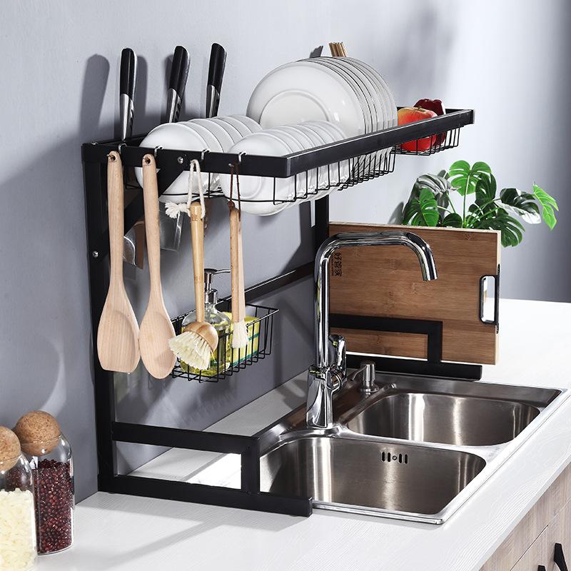 Многофункциональная стойка из нержавеющей стали для сушки посуды, 65 см