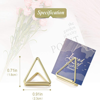 Wedding party Favors heart ,triangle shape metal table Number holder custom shape place card holders