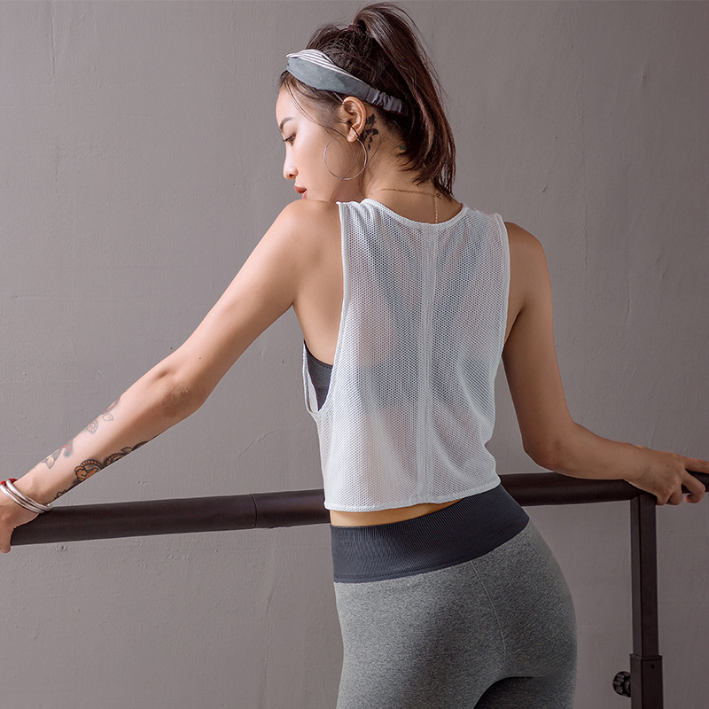 New Women Loose Yoga Sleeveless Shirts Quick Drying Training Fitness Sports Blouse Vest 9