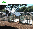 Commercial glass used polycarbonate mini small green houses aluminum frame house garden greenhouse other greenhouses for sale