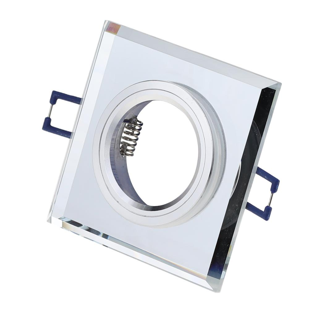 2020 Cover Recessed Ceiling M16 Crystal Glass Square Lighting Fixture GU10 Downlight Housing Holder
