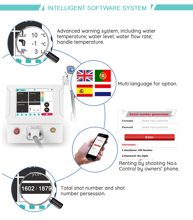 New design professional portable 808nm diode laser