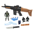 Brown and Red Western Toy Gun Airsof Gun Suitable for EVA PVC Gel Bullets