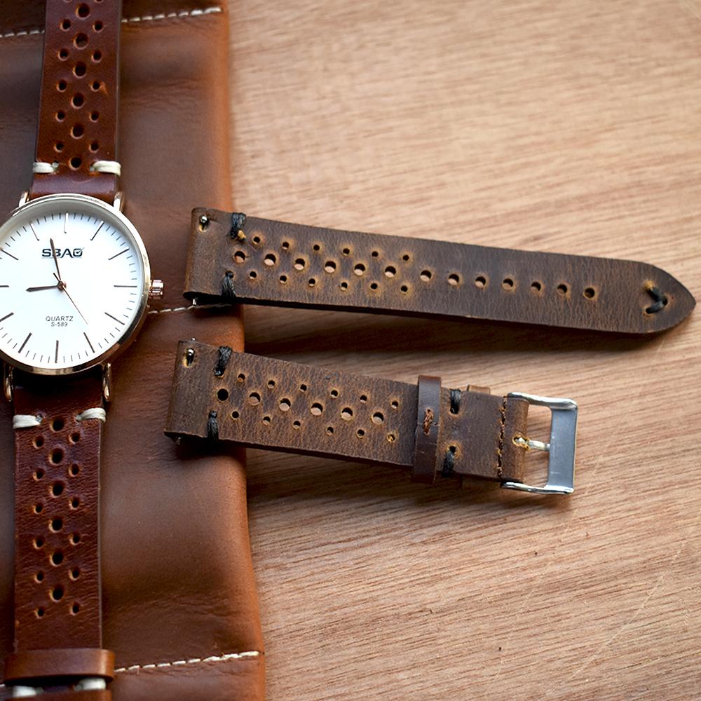 Grossiste bracelet montre cuir 22mm Acheter les meilleurs