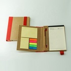 eco friendly recycled notebook with pen gift set
