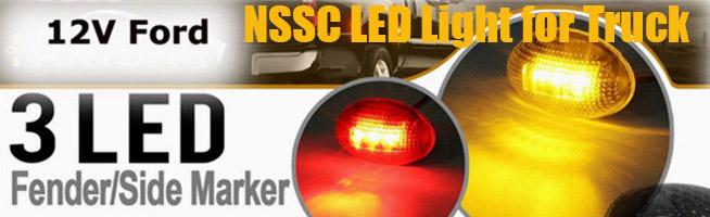 NSSC Side Marker Turn Signal LED Lights Trucks 24V