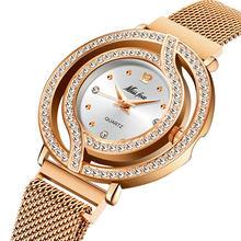 MISSFOX магнитные часы женские роскошные брендовые водонепроницаемые женские часы с бриллиантами полые синие кварцевые элегантные золотые же...(Китай)