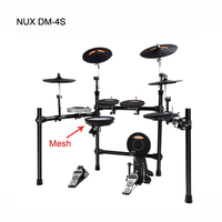 DM-4S High quality 64 voices backlit LCD display NUX mesh digital Electronic drum set kit