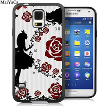 MaiYaCa Алиса в стране чудес мультфильм Чехлы для samsung Galaxy S5 S6 S7 edge S8 S9 S10 Plus Lite Note 9 5 8 задняя крышка чехол(Китай)