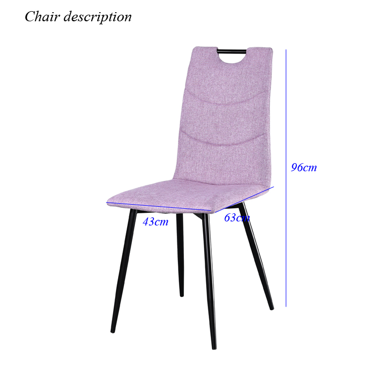 Luxury modern chairs for dining table in manufacturing factory