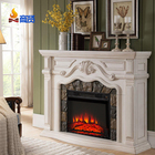23 inch 120v decorative electrical fireplace heater 220v decor flame led electric insert fireplace speaker