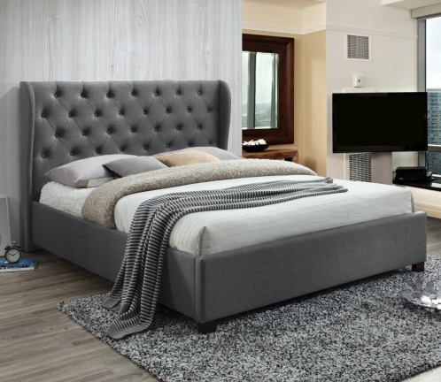 2020 Cheap Price Amazon Online Bedroom Furniture Sets Chrocoal Grey Fabric Bed Frame Buy Chrocoal Grey Bed Frames Cheap Bedroom Furniture Sets King Size Beds Product On Alibaba Com