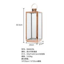Скандинавское железное стекло подсвечник золотой металл ветровая лампа ретро Свеча фонарь наружный двор подсвечник Mumluk украшение FC215(Китай)