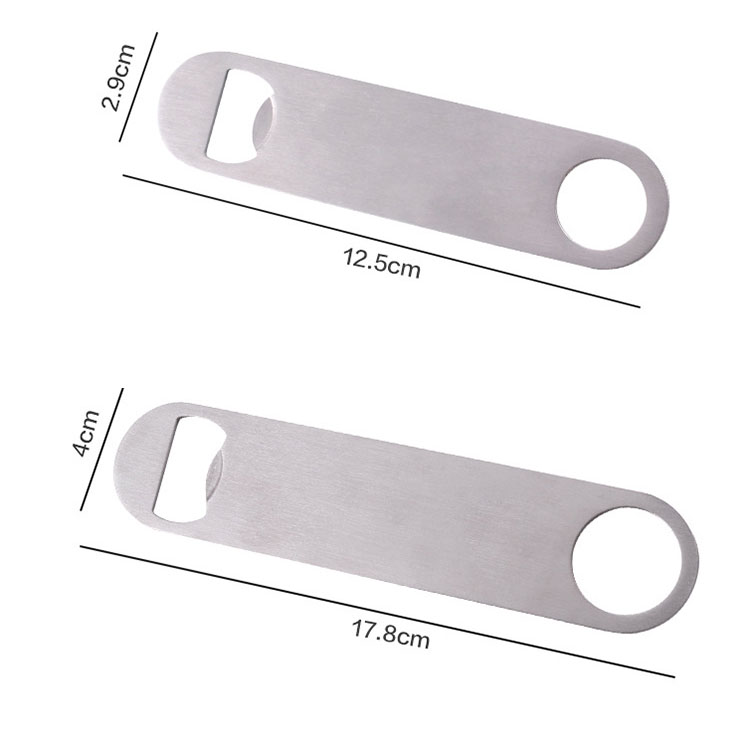 Wholesale metal stainless steel blank customized beer bottle opener