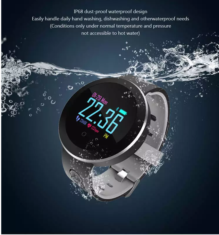 Q8 Pro Heart Rate การตรวจสอบความดันโลหิต/ความดันโลหิตออกซิเจนการตรวจสอบการตรวจสอบการนอนหลับกีฬา pedometer/แคลอรี่