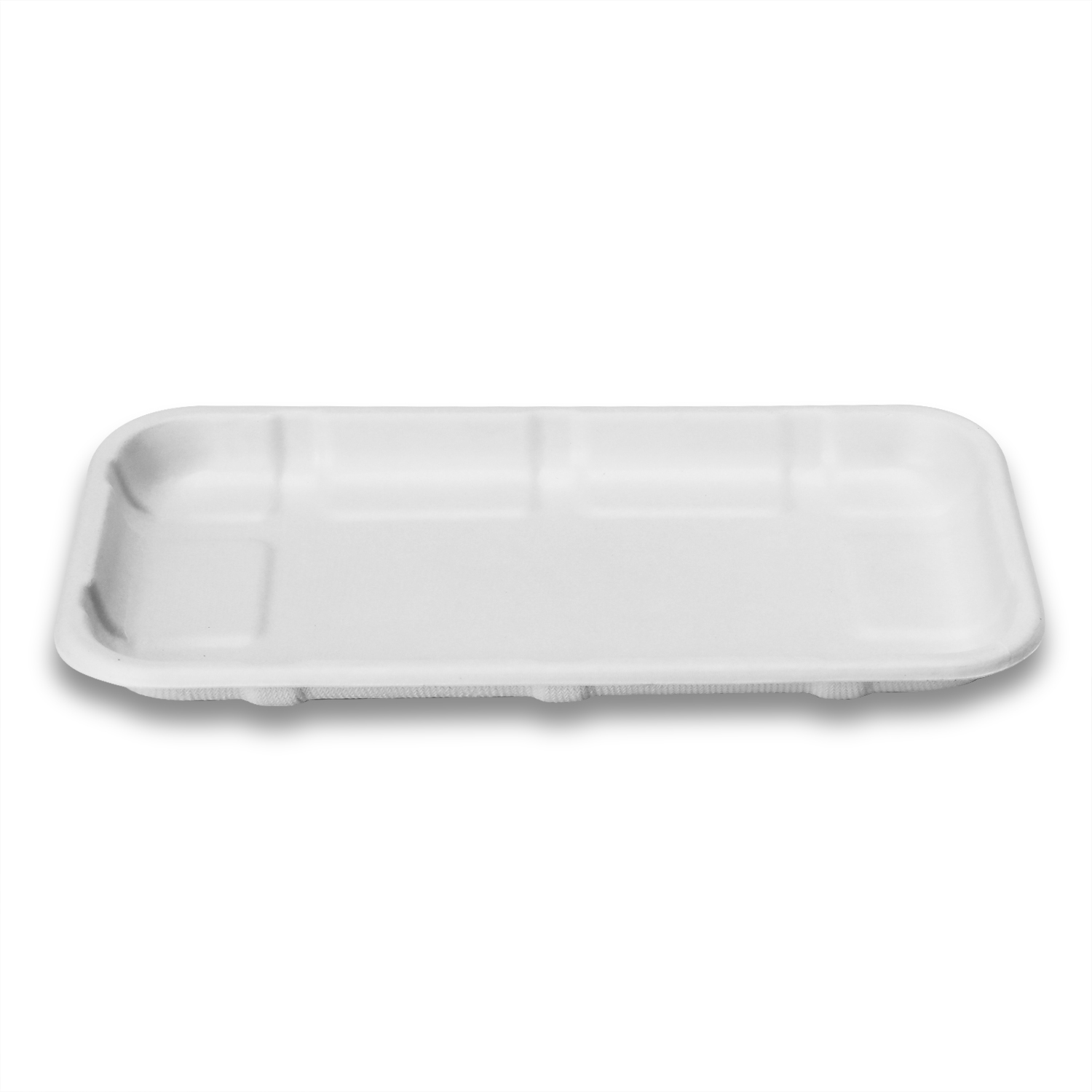 Supermarket Food Packaging Disposable Biodegradable Bagasse Sugarcane Fruit Meat Tray