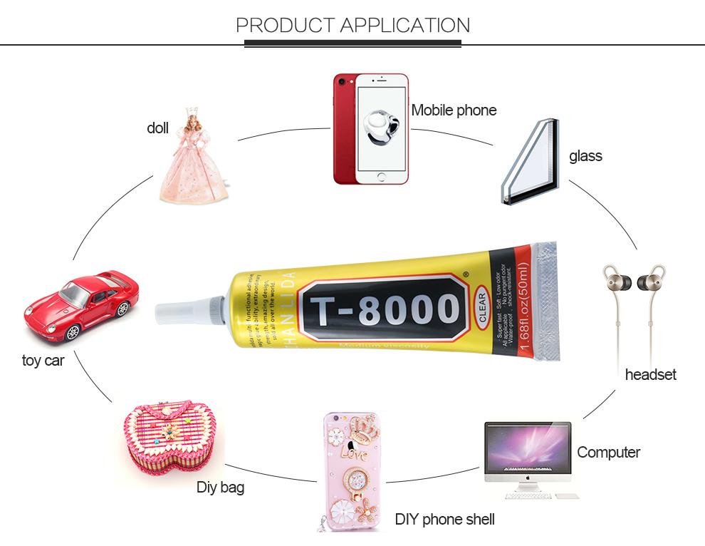 BEST Quality T-8000 Multi Purpose Industrial Adhesive, Lash/Phone Repair Fix Screen PVC Glue