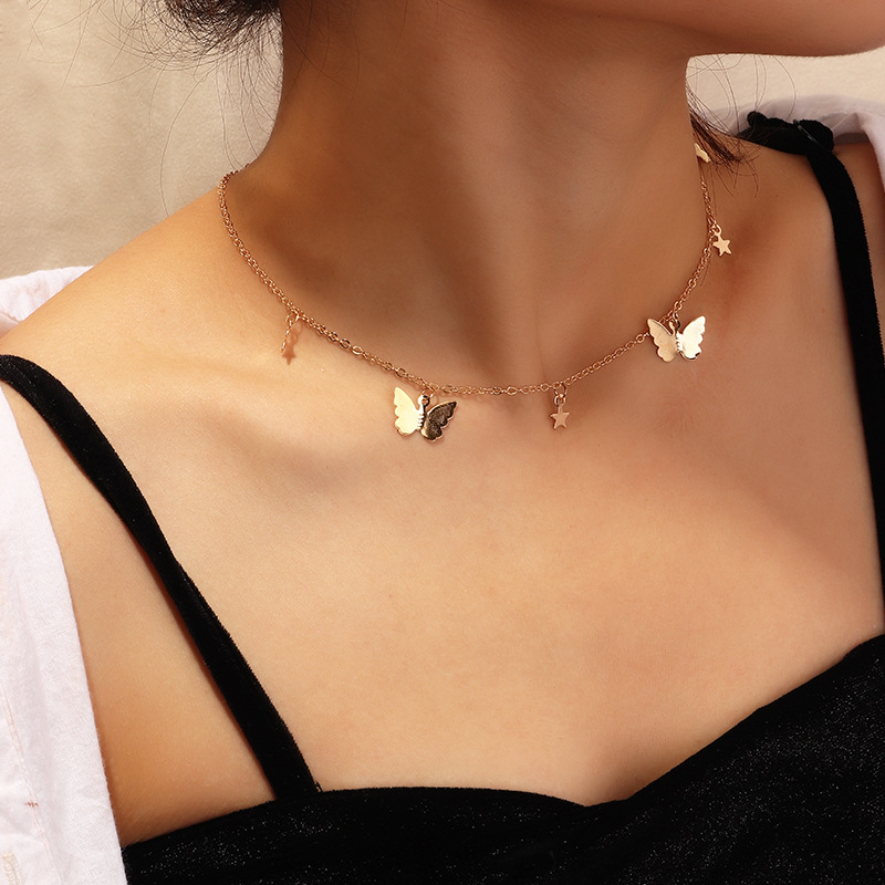 Fashion Choker Necklace,Necklaces Butterfly,Butterfly Necklace