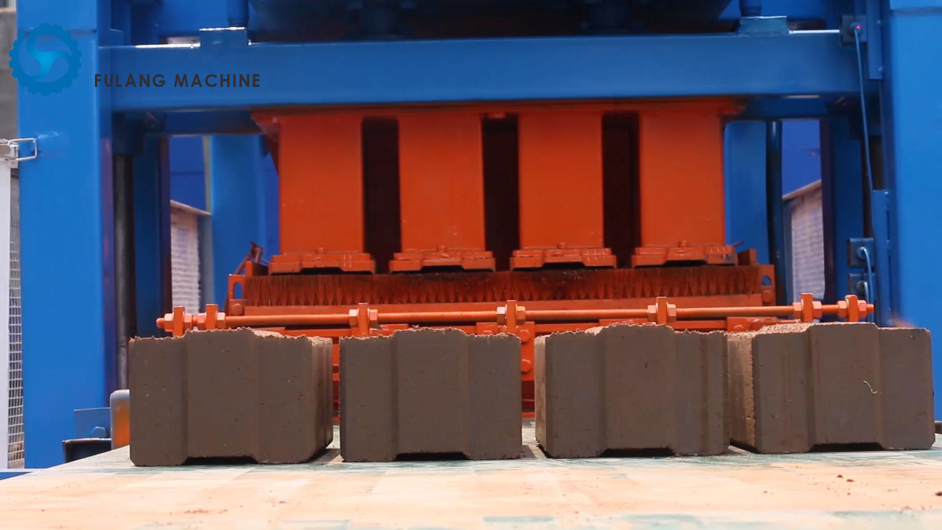 FL4-10 eco brava clay, soil, cement brick making machine production line