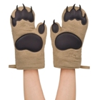 Hot Sale Brown Kitchen White Bear's Paw Oven silicone Mitts Factory Price Heat Resistant Microwave Oven Gloves Mitts