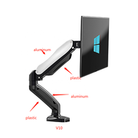 17-27 inch Ergonomic Steel LCD TV Desk Clamp Holder lcd TV Wall Monitor Mount