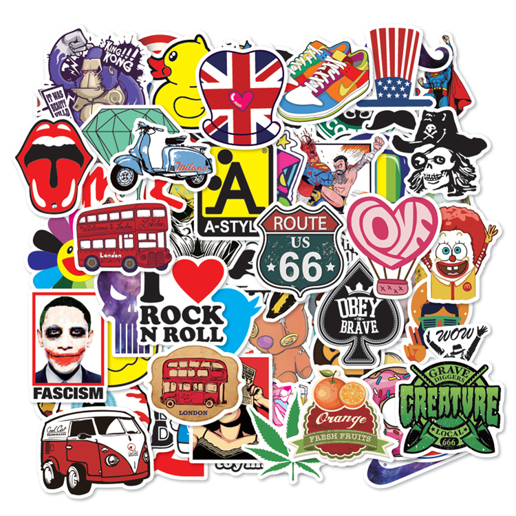 2020 Newest Design Cheap Decal Printed Various Style Custom Laptop Sticker