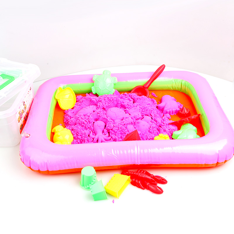 2KG Educational Modeling <strong>Sand</strong> Toys Kids DIY Play Set Table Moon <strong>Magic</strong> <strong>Sand</strong> Box with 12 Mould Tools