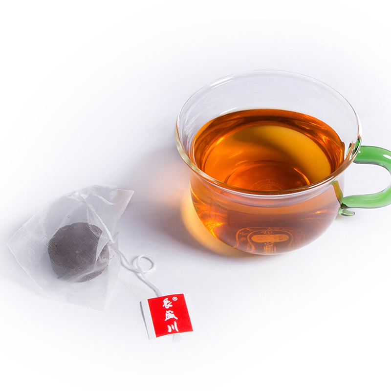 Changshengchuan Chinese black tea round mini brick tea with biodegradable tea bag