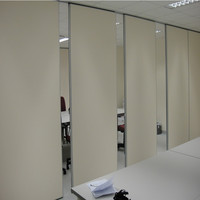 85 mm Wooden Sliding Room Acoustic Folding Foldable Partition Walls Movable Divider Screen Manufacturer