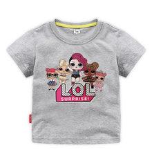 LoL Surprise/футболки с юбкой, костюм с перчатками комплект одежды для девочек, одежда для маленьких девочек Летняя футболка с короткими рукавами...(Китай)
