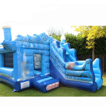 Inflatable Frozen bouncy castle slide / Frozen inflatable bouncer slide combo