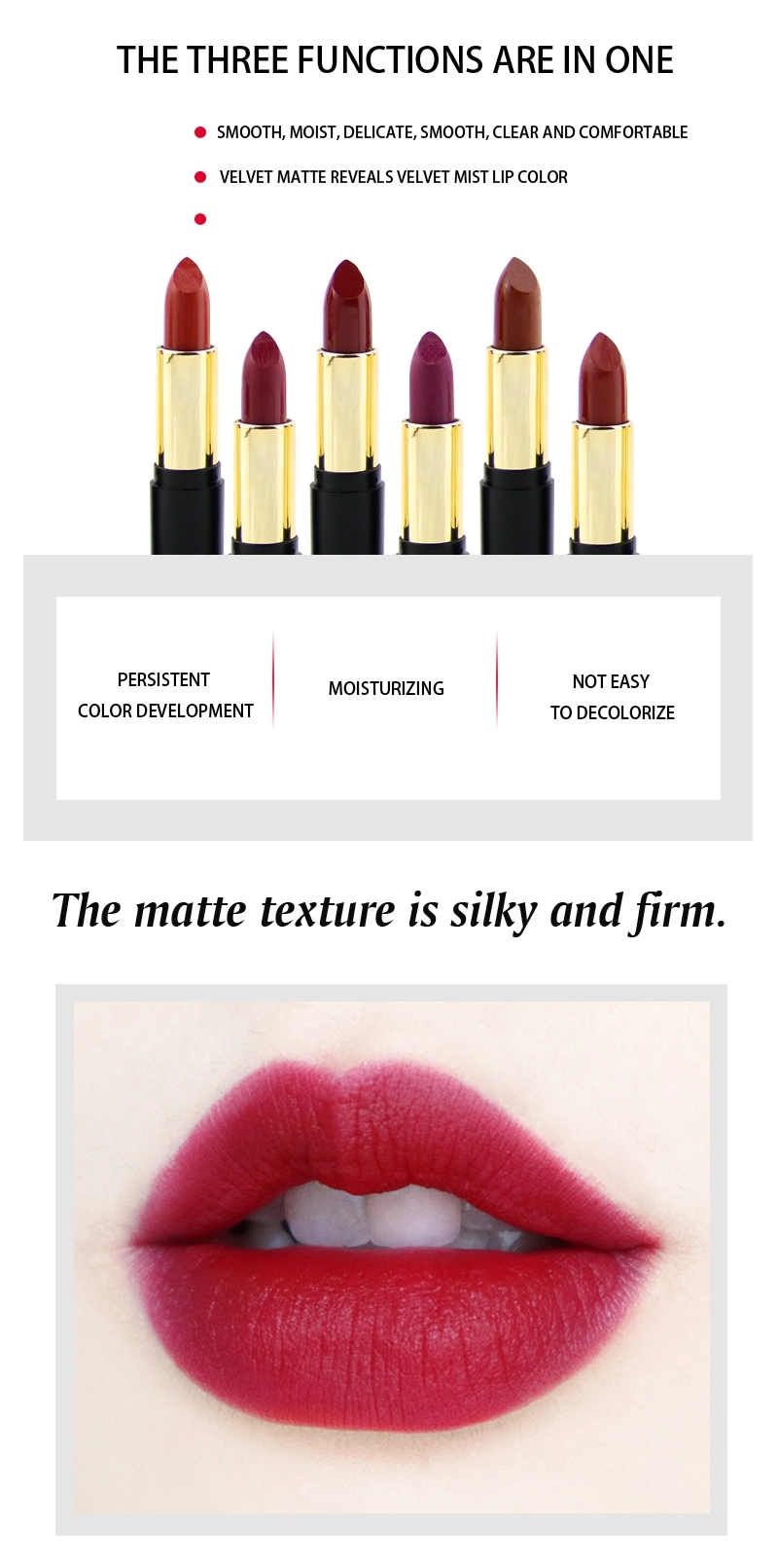 Amazon hot selling 30 color beauty lipstick liquid lipstick private label matte liquid lipstick