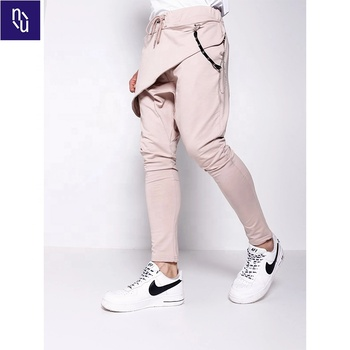 Drop crotch sweatpants harem style Hip Hop Mens Jogger Pants with Chain