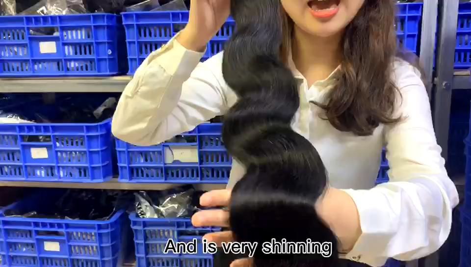 Großhandel 10a Grade Häutchen Ausgerichtet Anbieter Raw Jungfrau-brasilianisches haar bundles 40 zoll Menschliches Haar, indische menschenhaar verlängerung