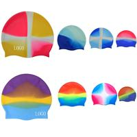 Unisex Colorful Waterproof Silicone Swimming Cap