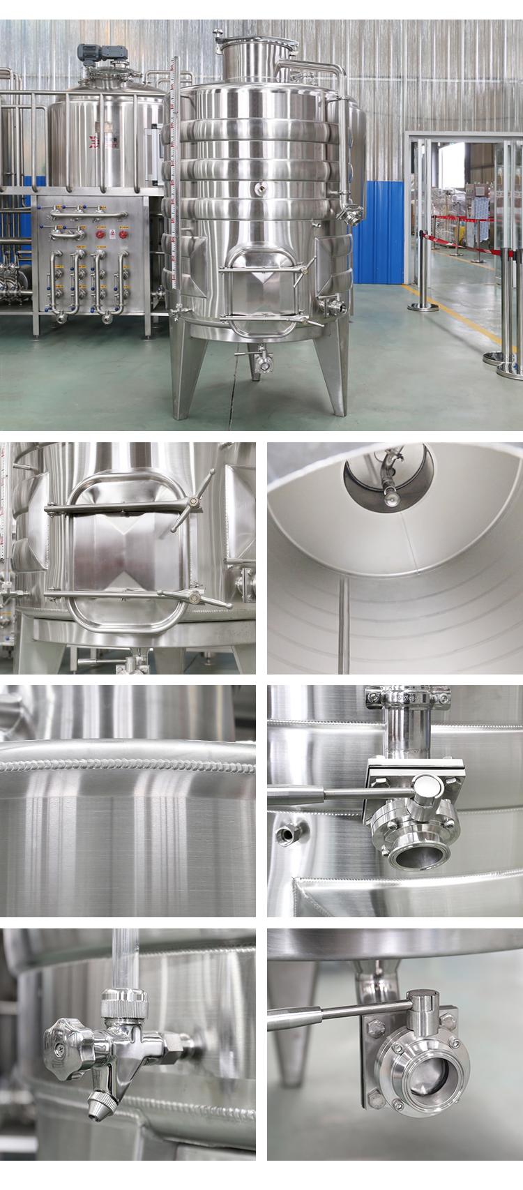 300L 500L 3000l 5000l 10000L Equipamentos Adega Máquinas de Aço Inoxidável Tanques de Fermentação do Vinho