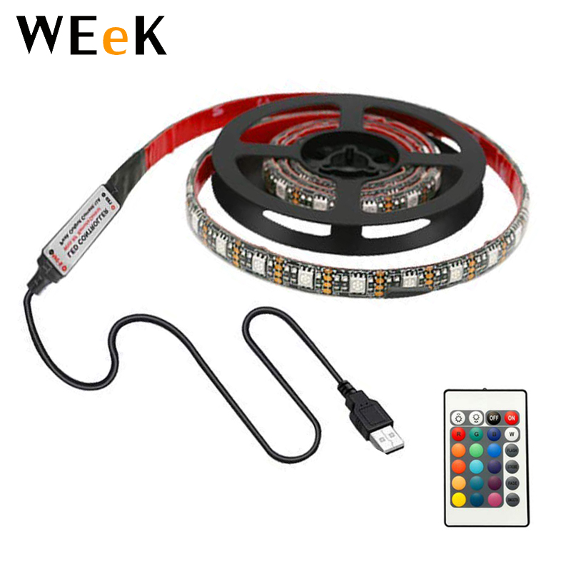 WL-USB24K-02 Led Strip <strong>Lights</strong> 6.56ft for 40-60in TV USB LED TV Backlight Kit with Remote 16 <strong>Color</strong> Changing 5050 LEDs Bias <strong>Light</strong>