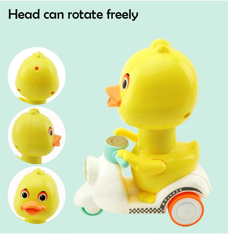 2020 High Quality Diecast Car Press Inertia Motor Toy Cute Animal On Bike Plastic Toys For Child