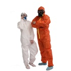 Orange White Workwear Multiplayer Membranes Chemical Spray Protection Safety Coverall