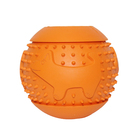 OEM Durable Rubber Pet Toy Interactive Tooth Chew Snack Dispenser Dog Toy Treat Ball