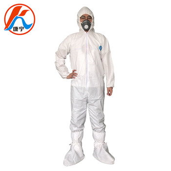 Xiantao wholesale breathable non woven protective microporous clothing vendors with hood for protection