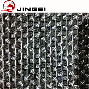 Elevator wall cladding mesh interior decorative wire mesh panel