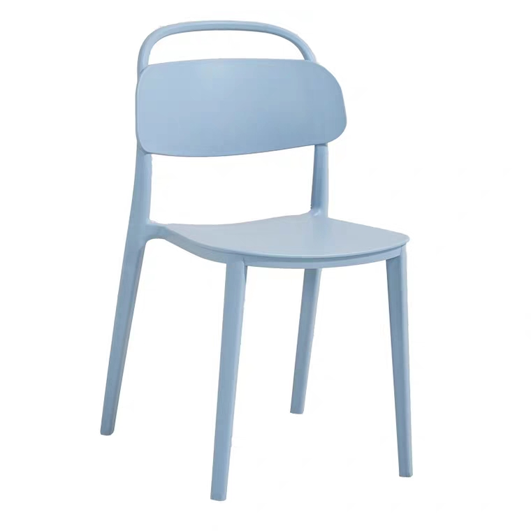 Ins simple adulte moderne dossier en plastique dinant la chaise de loisirs de plein air negotiatinghome meubles chaises empilables en plastique blanc