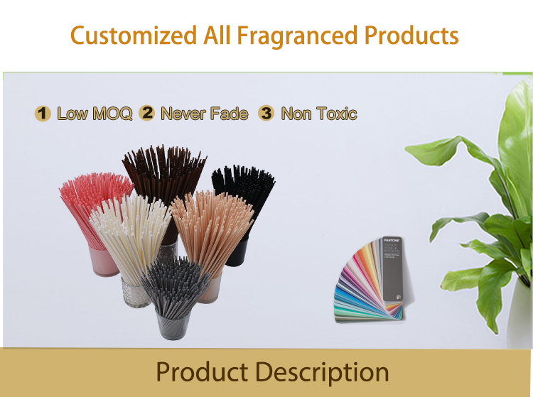 3mmD*28cmL white or black color synthetic fiber rattan reed diffuser sticks for air freshener