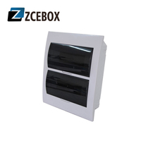 ZCEBOX Branded plastic electrical Power distribution panel box switchboards surface mount 24-36 way circuit breaker box