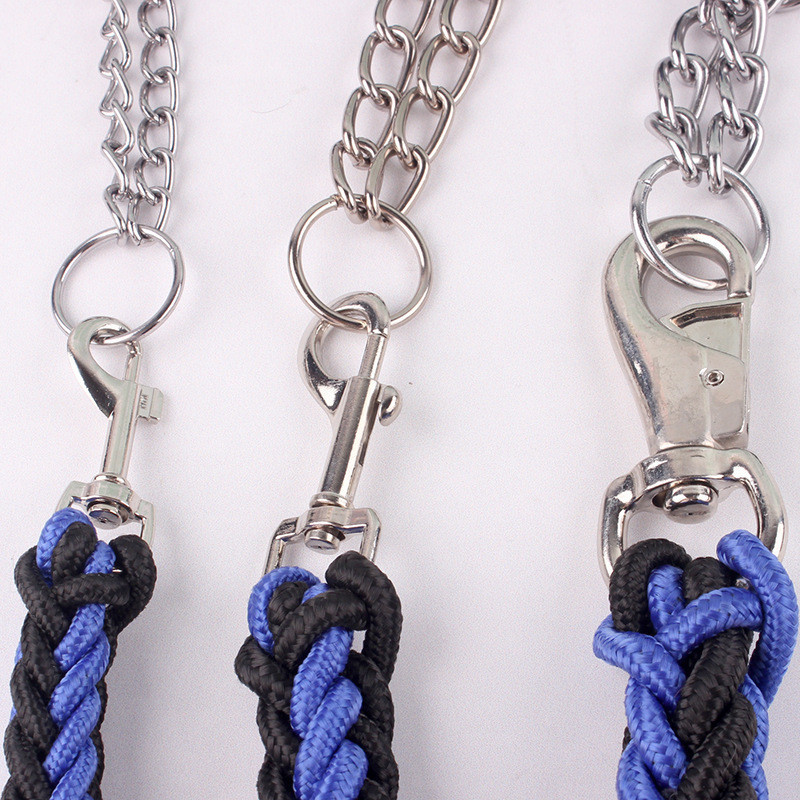 New Arrival Two-color Collar Eight-strand Rope Chain Pet Leash Large Medium Dogs Chain Braided Rope Leashes