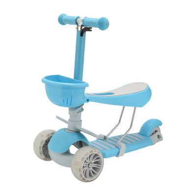 With Extra-Wide PU Flashing Wheels 3 Wheel Scooter with Detachable Seat for Toddles Scooters for Kids Kick Scooter